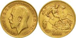 Ancient Coins - Coin, Great Britain, George V, 1/2 Sovereign, 1911, , Gold, KM:819