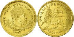 World Coins - Coin, Ethiopia, Menelik II, 1/4 Werk, 1897, , Gold, KM:16