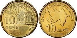 World Coins - Coin, Azerbaijan, 10 Qapik, Undated (2006), , Brass plated steel, KM:42