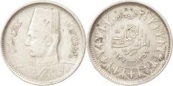 World Coins - Egypt, Farouk, 2 Piastres, 1937, British Royal Mint, , Silver, KM:365