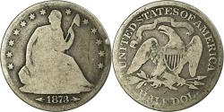 Us Coins - Coin, United States, Seated Liberty Half Dollar, Half Dollar, 1873, U.S. Mint