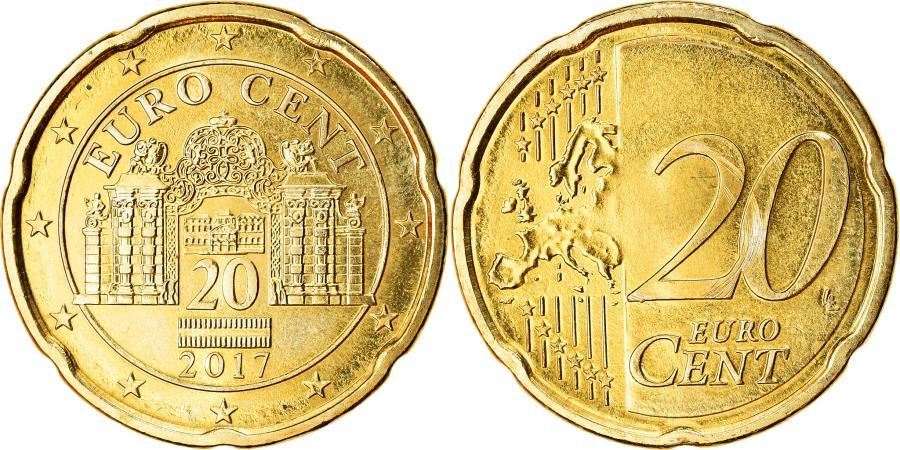 World Coins - Austria, 20 Euro Cent, 2017, , Brass