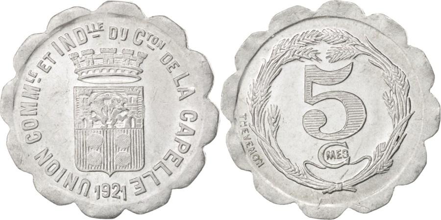 World Coins - France, 5 Centimes, 1921, , Aluminium, Elie #10.1, 0.83