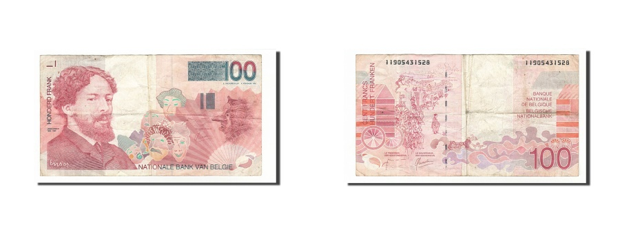 World Coins - Belgium, 100 Francs, 1995, KM #147, VF(20-25), 11905431528