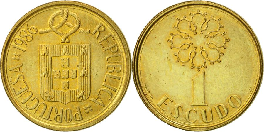 World Coins - Portugal, Escudo, 1986, , Nickel-brass, KM:631