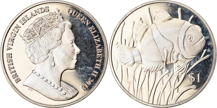 World Coins - Coin, BRITISH VIRGIN ISLANDS, Dollar, 2018, Franklin Mint, Vie sous-marine -