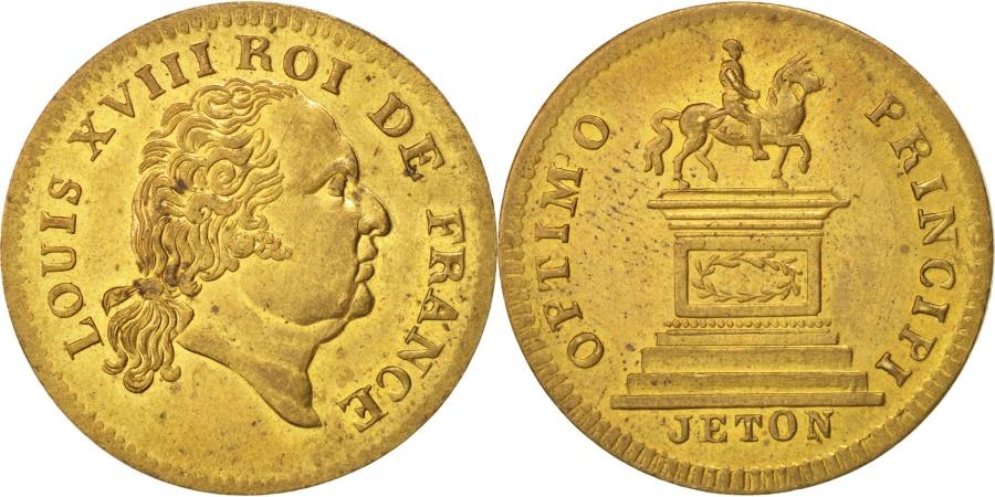 World Coins - France, Token, Royal, Louis XVIII, Optimo Principi, , Brass