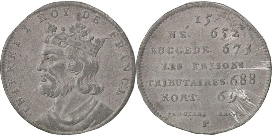 World Coins - FRANCE, History, Thierri I, Medal, , Tin, 32, 14.10