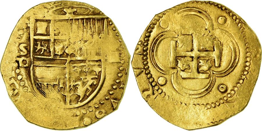 World Coins - Coin, Spain, Philip II, 4 Escudos, Seville, , Gold