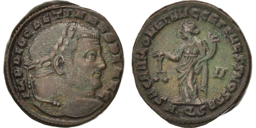Ancient Coins - Diocletian, Follis, Aquileia, , Billon, RIC:29a