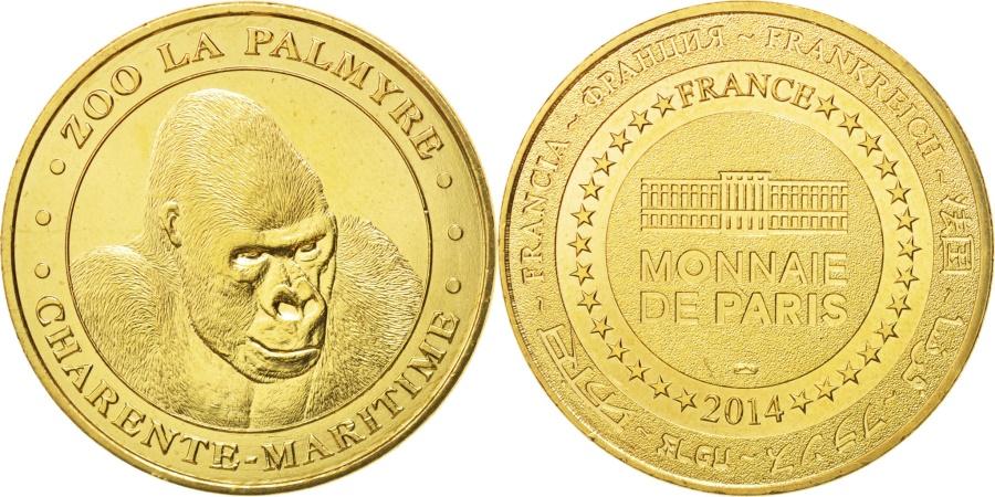 World Coins - France, Tourist Token, 17/ Zoo de la Palmyre - Gorille, 2014, Monnaie de Paris