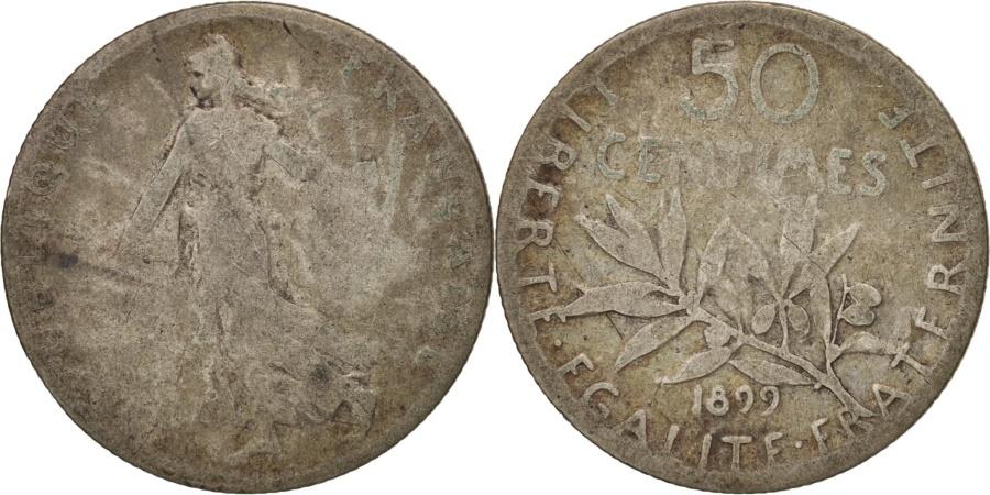 World Coins - France, Semeuse, 50 Centimes, 1899, Paris, , Silver, KM:854, Gadoury:420
