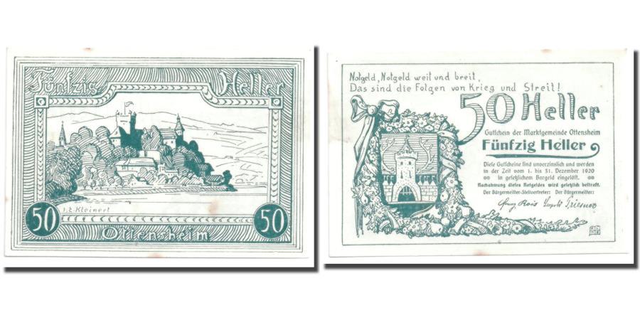 World Coins - Banknote, Austria, Ottensheim, 50 Heller, paysage, UNC(63), Mehl:717