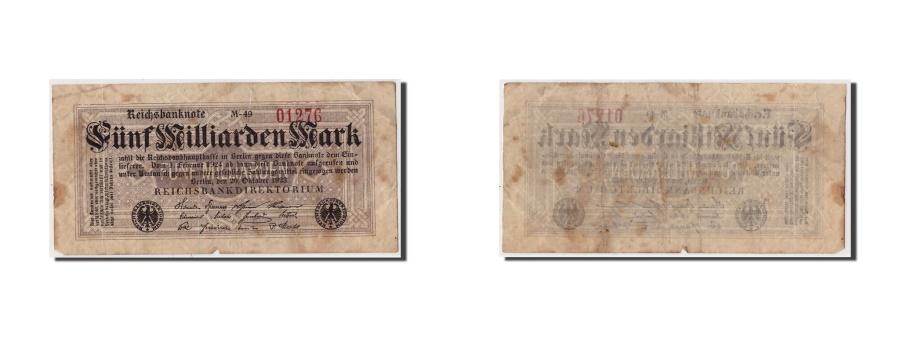 World Coins - Germany, 5 Milliarden Mark, 1923, KM:123a, 1923-10-20, F(12-15)