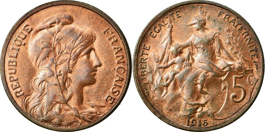 World Coins - Coin, France, Dupuis, 5 Centimes, 1915, Paris, AU(55-58), Bronze, KM:842
