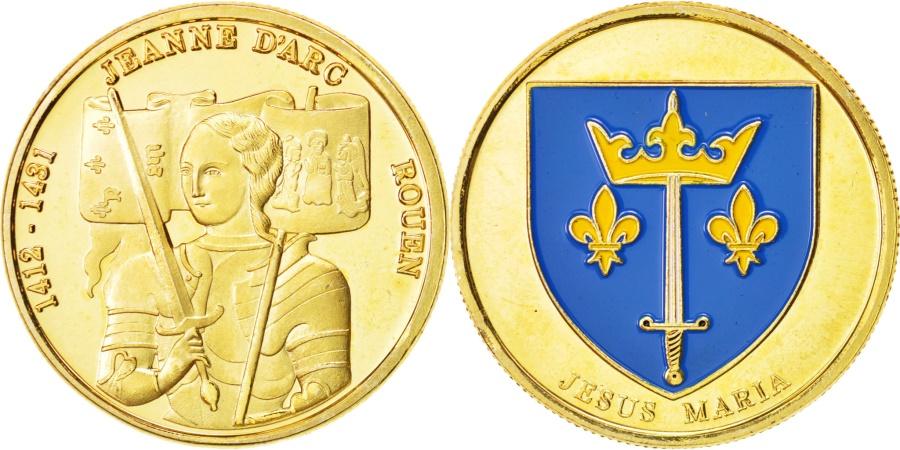 World Coins - Tourist Token, Jeanne d'Arc, Rouen, Undated, , Jesus Maria