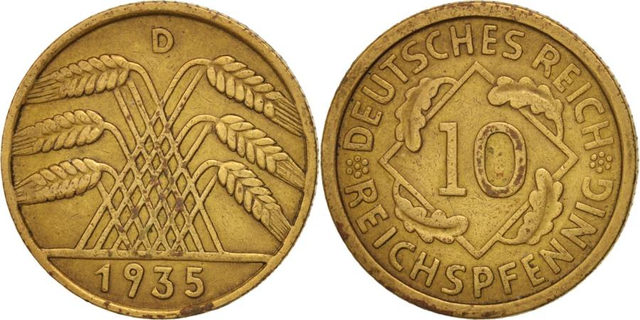 World Coins - GERMANY, WEIMAR REPUBLIC, 10 Reichspfennig, 1934, Munich, , KM 40