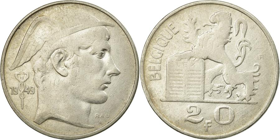 World Coins - Coin, Belgium, 20 Francs, 20 Frank, 1949, , Silver, KM:140.1