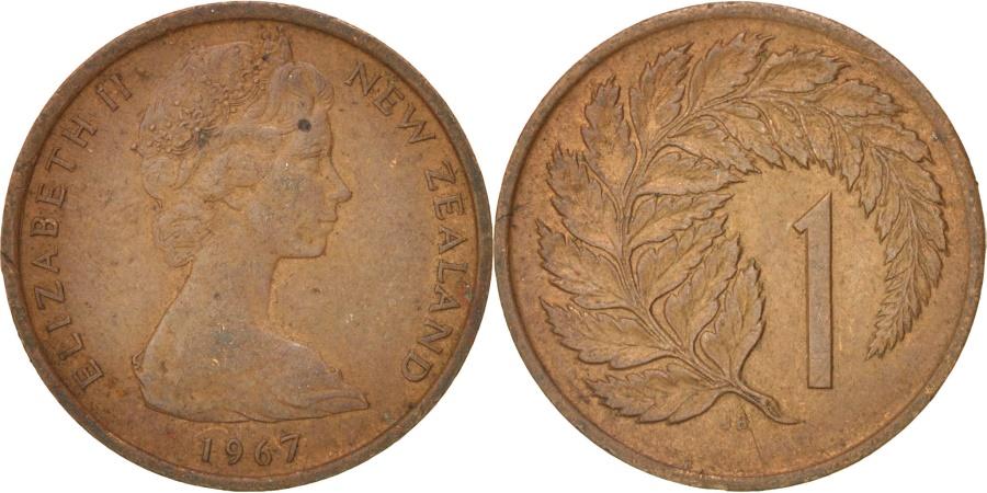 World Coins - NEW ZEALAND, Cent, 1967, KM #31.1, , Bronze, 17.53