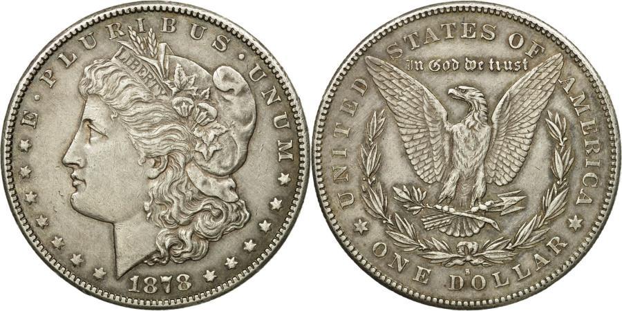 US Coins - Coin, United States, Morgan Dollar, 1878, San Francisco, , KM 110