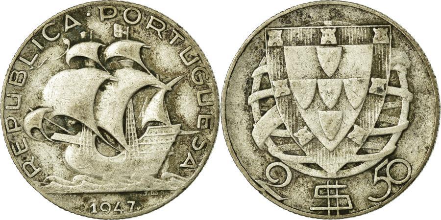 World Coins - Coin, Portugal, 2-1/2 Escudos, 1947, , Silver, KM:580