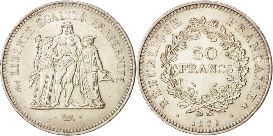 World Coins - France, Hercule, 50 Francs, 1976, Paris, , Silver, KM:941.1