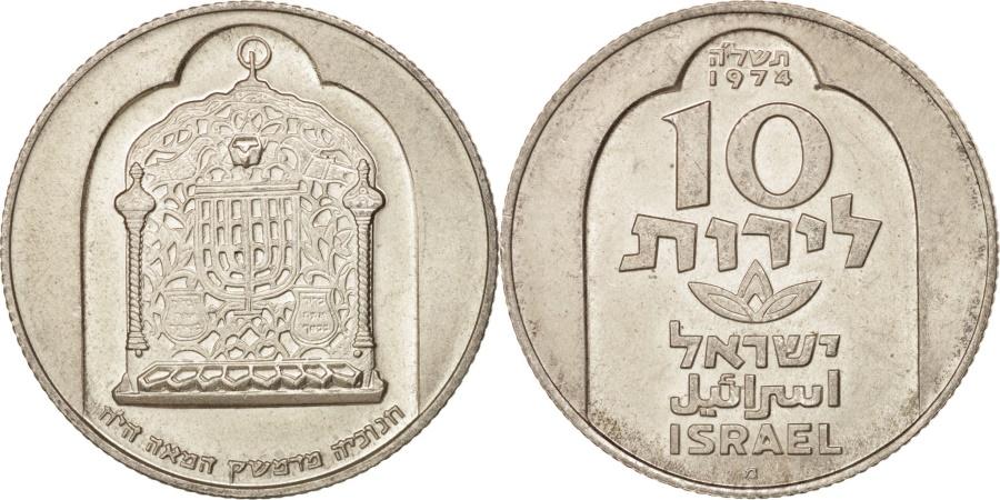 World Coins - Israel, 10 Lirot, 1974, , Silver, KM:78.1