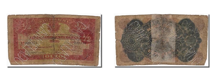 World Coins - Mozambique, 1/2 Libra, 1919, KM #R5, VG(8-10), 029132