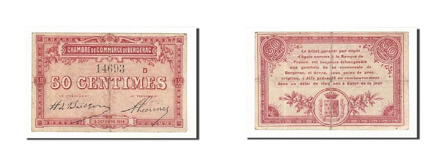World Coins - France, Bergerac, 50 Centimes, 1914, EF(40-45), Pirot:24-10