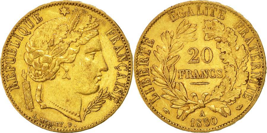 World Coins - Coin, France, Cérès, 20 Francs, 1850, Paris, , Gold, KM:762