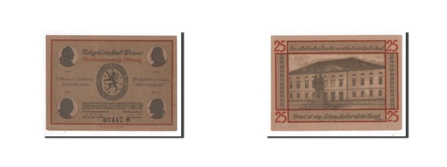 World Coins - Germany, Weimar, 25 Pfennig, Batiment, 1921, 1921-03-01, UNC(65-70), Mehl:1398.1