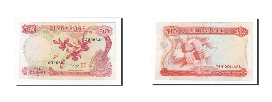 World Coins - Singapore, 10 Dollars, 1967-73, KM:3d, EF(40-45)