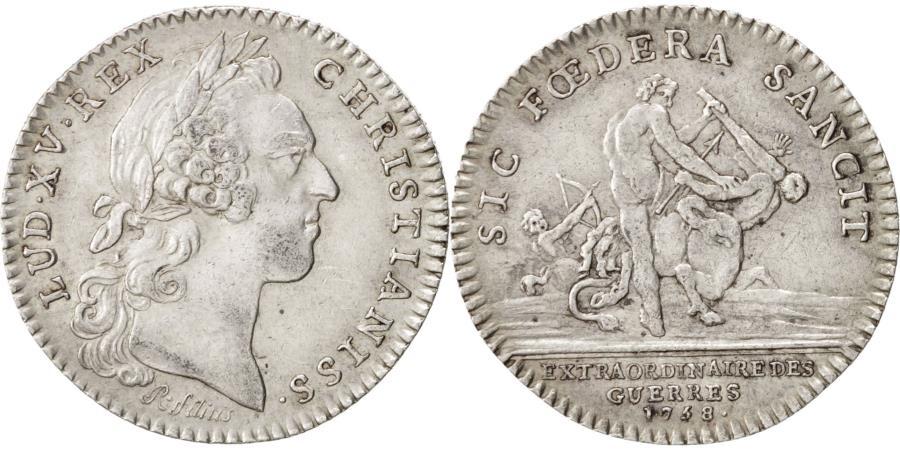 World Coins - France, Token, Royal, Louis XV, 1758, , Silver, Feuardent:858