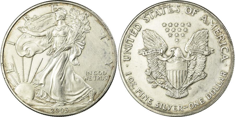 US Coins - Coin, United States, Dollar, 2003,U.S. Mint,Philadelphia,,Silver,KM 273