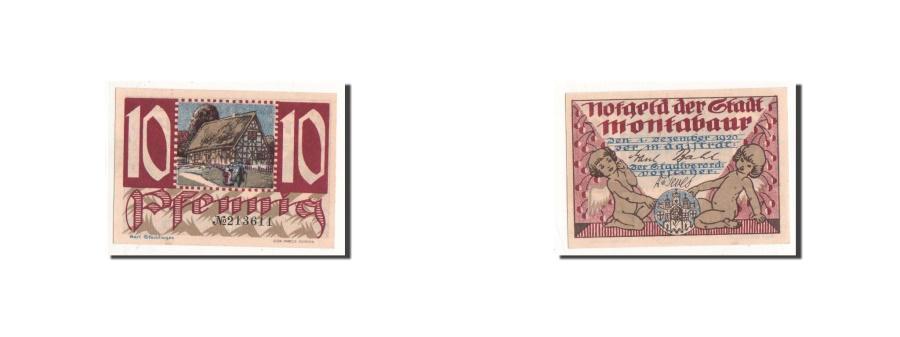 World Coins - Germany, Montabaur, 10 Pfennig, ange, 1920, 1920-12-01, UNC(65-70), Mehl:898.1