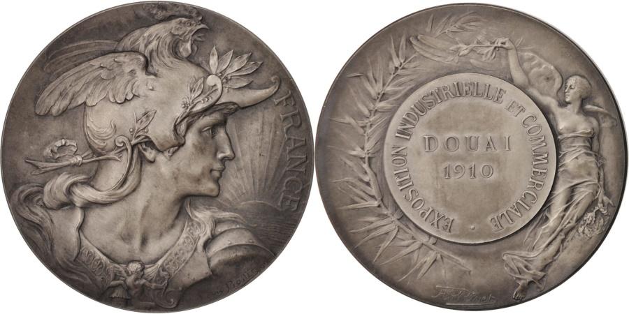 World Coins - France, Medal, Exposition industrielle et commerciale de Douai, Business &