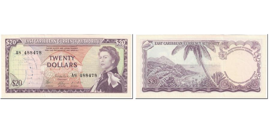 World Coins - Banknote, East Caribbean States, 20 Dollars, 1965, Undated (1965), KM:15f