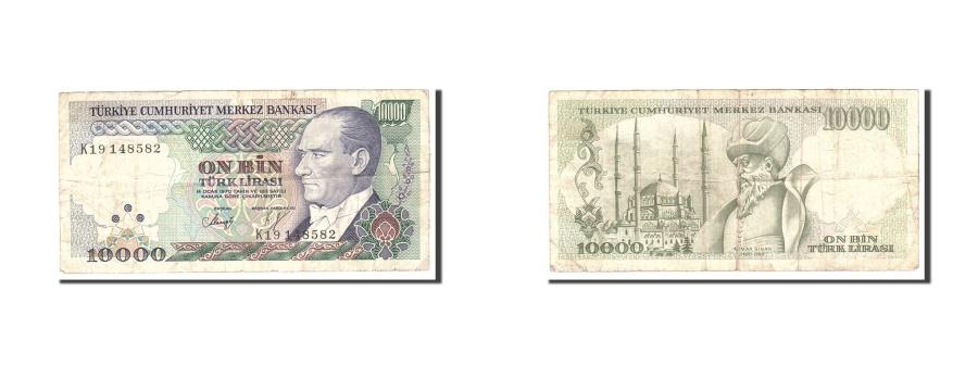 World Coins - Turkey, 10,000 Lira, 1970, 1982, KM:199, EF(40-45)