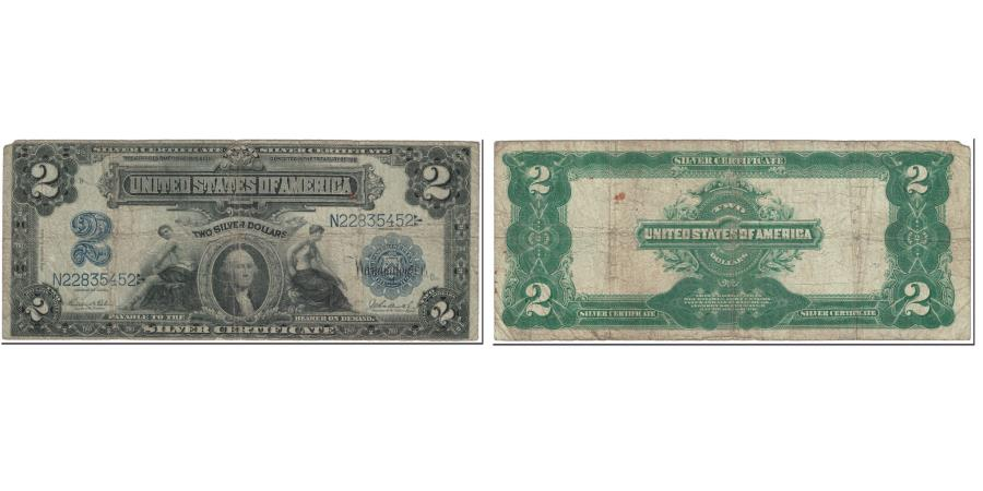 US Coins - Banknote, United States, Two Dollars, 1899, Undated (1899), KM:137, VF(20-25)