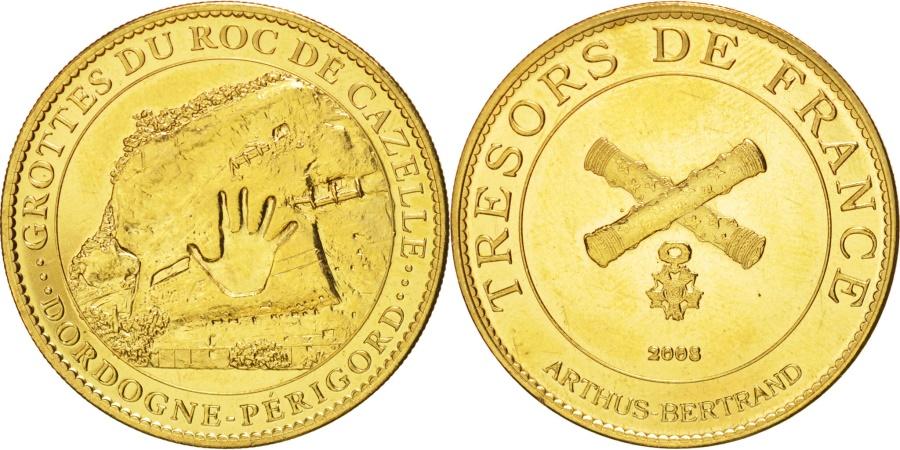 World Coins - Tourist Token, Grotte du Roc de Cazelle, Dordogne, 2008, , Arthus Bertrand