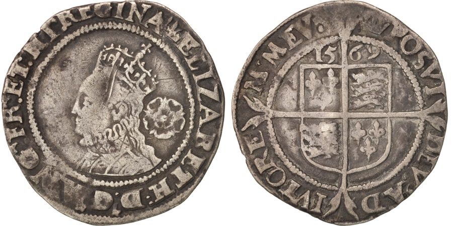 World Coins - Great Britain, Elizabeth, 6 Pence, 1569, , Silver