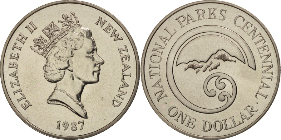 World Coins - New Zealand, Elizabeth II, Dollar, 1987, , Copper-nickel, KM:65