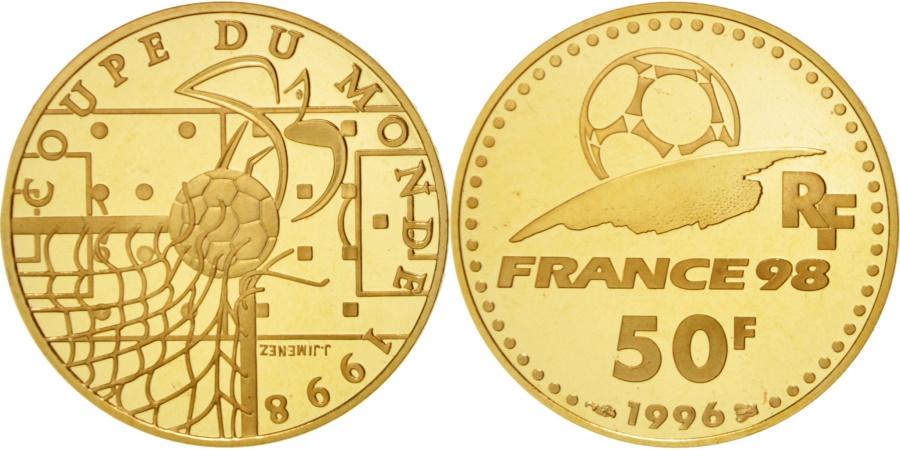 World Coins - FRANCE, 50 Francs, 1996, KM #1145, , Gold, 8.45