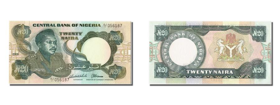 World Coins - Nigeria, 20 Naira, 2005, KM #26i, UNC(65-70), AJ/11 056187