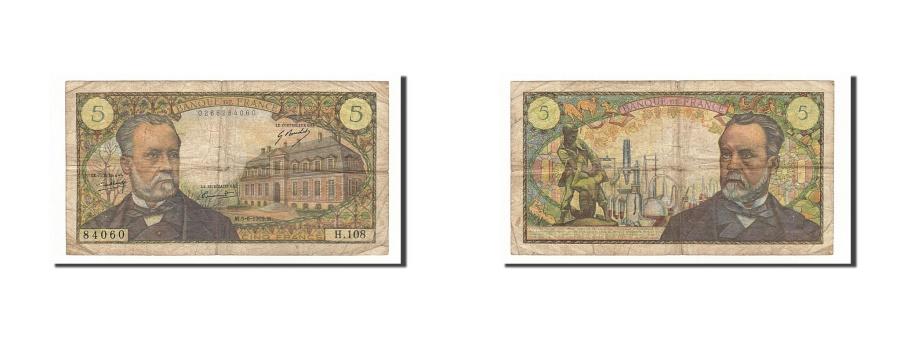 World Coins - France, 5 Francs, 5 F 1966-1970 ''Pasteur'', 1969, KM #146b, 1969-06-05,...