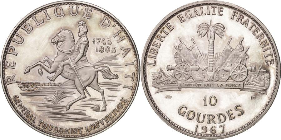 World Coins - Haiti, 10 Gourdes, 1967, , Silver, KM:65.1