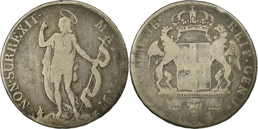 World Coins - Coin, ITALIAN STATES, GENOA, 4 Lire, 1797, Genoa, VF(20-25), Silver, KM:248