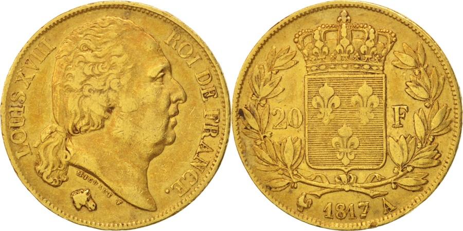 World Coins - France, Louis XVIII, Louis XVIII, 20 Francs, 1817, Paris, , Gold