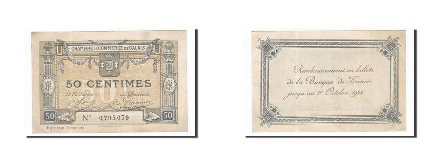 World Coins - France, Calais, 50 Centimes, AU(55-58), Pirot:36-42