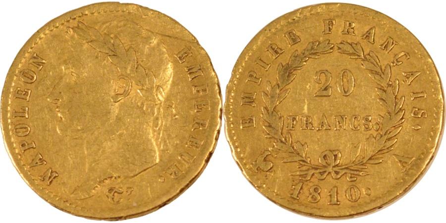 World Coins - FRANCE, Napoléon I, 20 Francs, 1810, Paris, KM #695.1, , Gold, Gadoury